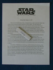 Original US Press Release - Star Wars - Special Edition - 1997