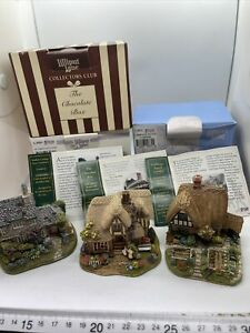 Lilliput Lane Cottages Cabbage Patch Corner, The Chocolate Box & Nutkin Cottage