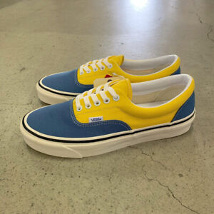 Vans Era 95 DX Anaheim Factory OG Navy/OG Yellow Men's Skate Shoes Size 10.5