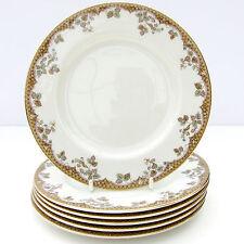 Vintage Royal Doulton Lynnewood Bone China Set 6 Thé plaques