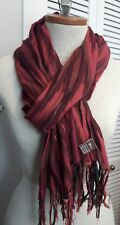 RAJ cotton crinkle multi color scarf wrap shawl with knotted fringe