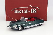 1/18 - CITROEN DS21 CHAPRON PALM BEACH 1968 Green - METAL-18 (NOREV)