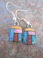 Stone Mosaic Handcrafted Earrings Made in Mexico Fair Trade  NEW me110