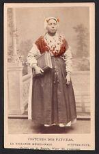 Costumes des Pays-Bas. Hollande Méridionale Scheveningue. A. Jager CDV Vers 1880