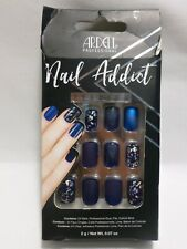 Ardell Nail Addict Premium Artificial Nail Set Matte Blue - Distressed Packaging