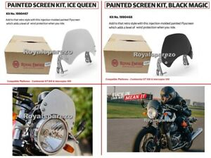 Royal Enfield Interceptor 650, GT 650 Painted Fly Screen ICE QUEEN & BLACK MAGIC