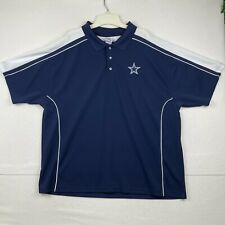 Cowboys Authentic Apparel Men's Blue Polo Size 2XL Short Sleeve Collared