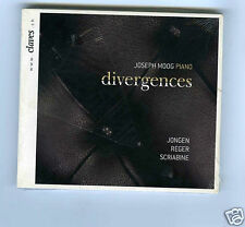 CD NEW JOSEPH MOOG (PIANO) DIVERGENCES JONGER REGER SCRIABINE