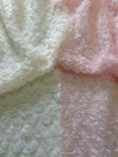 Beautiful 3D Soft Chiffon Flowers on Mesh, Ideal for Photos and Dresses, 1 Yard