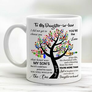To My Daughter-in-law Coffee Mug Daughter In Law Gift Cup I Love You Blessing