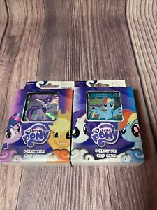 MLP My Little Pony Collectible Card Game Theme Deck Lot of 2 Rarity Rainbow