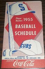 Chicago White Sox AND Chicago Cubs 1955 Pocket Schedule COCA-COLA /BABE RUTH