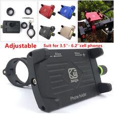 Adjustable CNC Motorcycle Scooter Bike MTB Handlebar Cell Phone GPS Holder Black