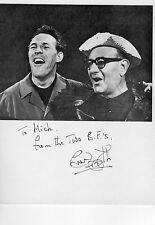 BRUCE FORSYTH AUTOGRAPH Shown With BUD FLANAGAN