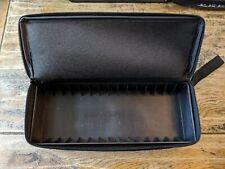 NYLON/FABRIC RIGID INNER 15 x AUDIO MUSIC CASSETTE TAPE CARRY BAG ZIPPED BLACK