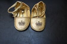 JUICY COUTURE INFANT BABY GOLD SHOES SZ 3