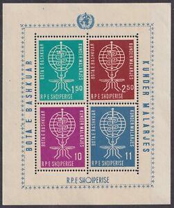 Albania, 1962, Fight against Malaria, souvenir sheet