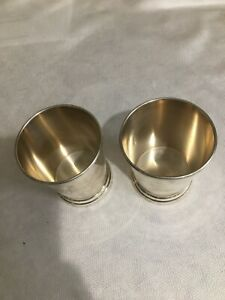 STERLING SILVER CUPS MONOGRAM