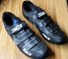 Sidi Zeta Cycling Road Bike Shoes -Size Euro 45/US 10.5 With SPD cleats Spinning