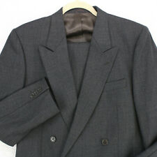 HOUSE OF CROMWELL Vtg Italian Gray Dbl Breasted 2PC SUIT JACKET 38R PANTS 31x32