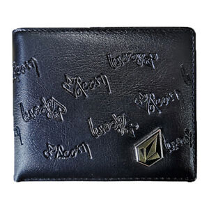 New with Box Volcom Men's Surf Synthetic Leather Black Wallet Great Gift