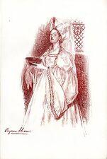 """""""D'après un dessin de BYAM SHAW"""" Photogravure originale THE STUDIO 1899"""
