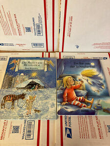 Lot of 2 children's picture books in GERMAN  -  big siz hardcover good condition
