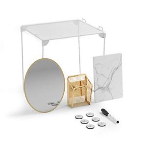 U Brands Locker Organizer and Decorating Kit, Back to School Essentials, Gold,
