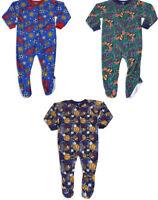 Carter's Watch the Wear Boys Footed Printed Blanket Sleeper Pajama