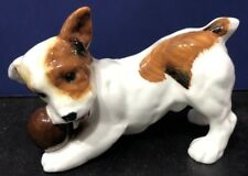 Royal Doulton Porcelain Jack Russell Terrier / Dog Playing Ball Figurine Hn1103