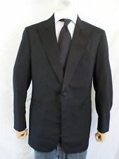 BROOKS BROTHERS black satin peak lapel formal dinner tuxedo jacket 42 43L