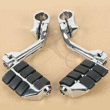 "1.25"" Long Mount Adjustable Highway Peg Footrests For Harley Touring Softail"