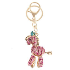 Zebra Pink Horse Fashion Cute Rhinestone Crystal Purse Bag Key Chain Charm Gift