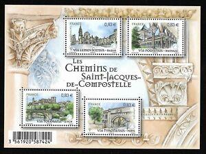 Bloc Feuillet 2014 N°F4838 Timbres - Les Chemins de Saint-Jacques-de-Compostelle