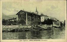 Lago Maggiore s/w AK ~1920/30 Isola Superiore Pescatori Albergo Verbano am See