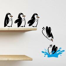 Penguins fridge shelf sticker jumping flying funny Vinyl Wall Sticker Decor