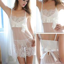 Women Hot Lingerie  Lace Dress Babydoll Underwear Nightwear Sleepwear G-string