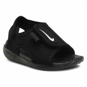 Nike Sunray Adjust 5 v2 (TD) DB9566 001 black/white Toddler Shoes Free Shipping
