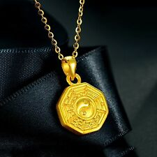 Fine Pure 999 24K Yellow Gold Pendant/3D Craved Lucky Bless 八卦 Pendant/ 1.2-1.5g