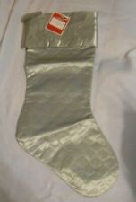 Silver Snowflake Stocking 19 inch Holiday Time  Brand New with Tag
