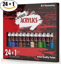 Acrylic Paint Tubes Set for Craft, Glass, Wood, Canvas, Models & Model Cars, and
