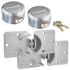 Master Lock - (2) Keyed Alike Hidden Shackle Padlock / Hasp Combo 770-6271KA-2