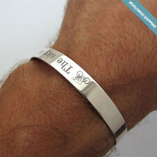 Triathlon Personalized Mens Cuff Bracelet - IronMan Jewelry Gift