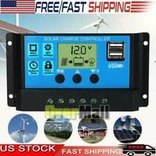 30-60A PMW Solar Charge Controller Dual USB Auto Cell Panel Charger Regulator