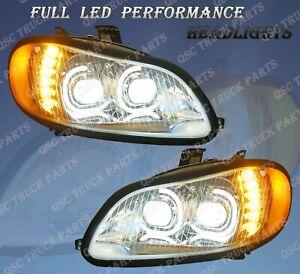QSC Full LED Performance Headlight Assembly Pair for Freightliner M2 03-19