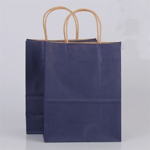 40pcs/lot Kraft Paper Bags with Handles Gift Packing bags for Wedding Baby Birth