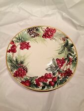 Williams Sonoma Christmas Holiday 2013 Botanical Wreath Dinner Plate
