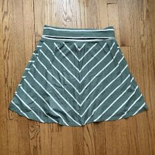 NWOT Old Navy Maternity Stretch Knit Skirt - Small - Sage Green White Stripe