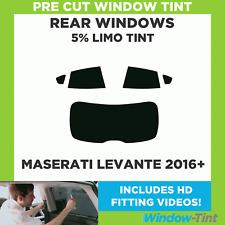 Pre Cut Window Tint - Maserati Levante 2016+ - 5% Limo Rear