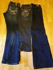 Lot of 3 Womens Jeans & Capri -LA Idol, Maurices, American Eagle -size 3, 4, 3/4